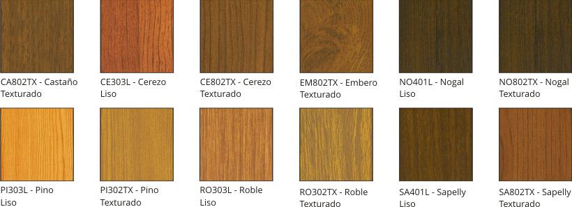 Madera color imagui for Colores de perfiles de aluminio