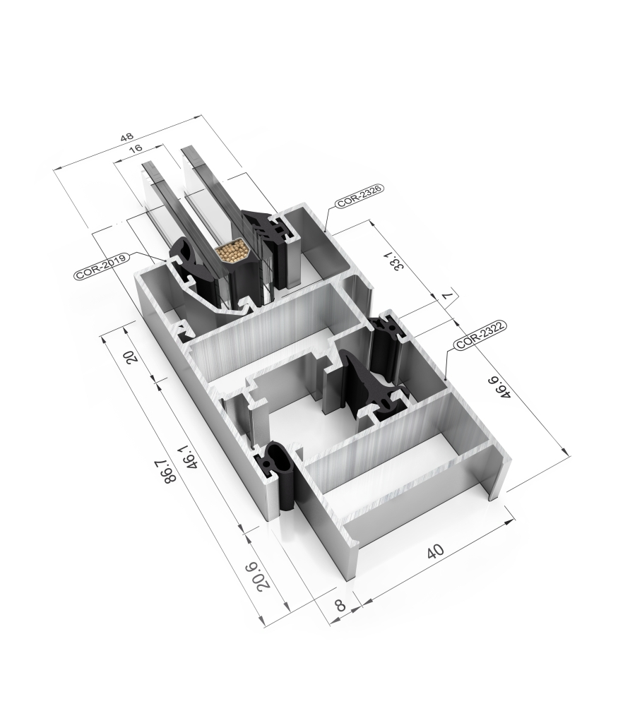 Detalle de la sección del sistema Cor 2300