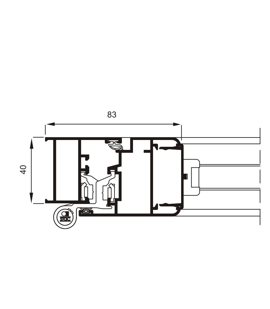 Detalle de la sección del sistema Mallorquina