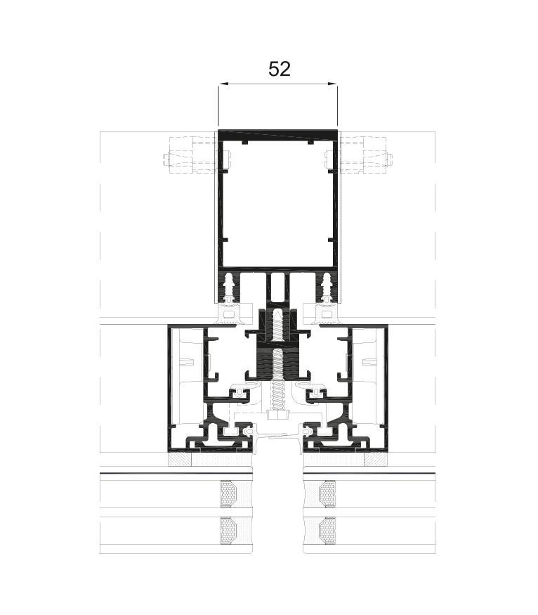 Detalle de la sección del sistema Fachada ST 52