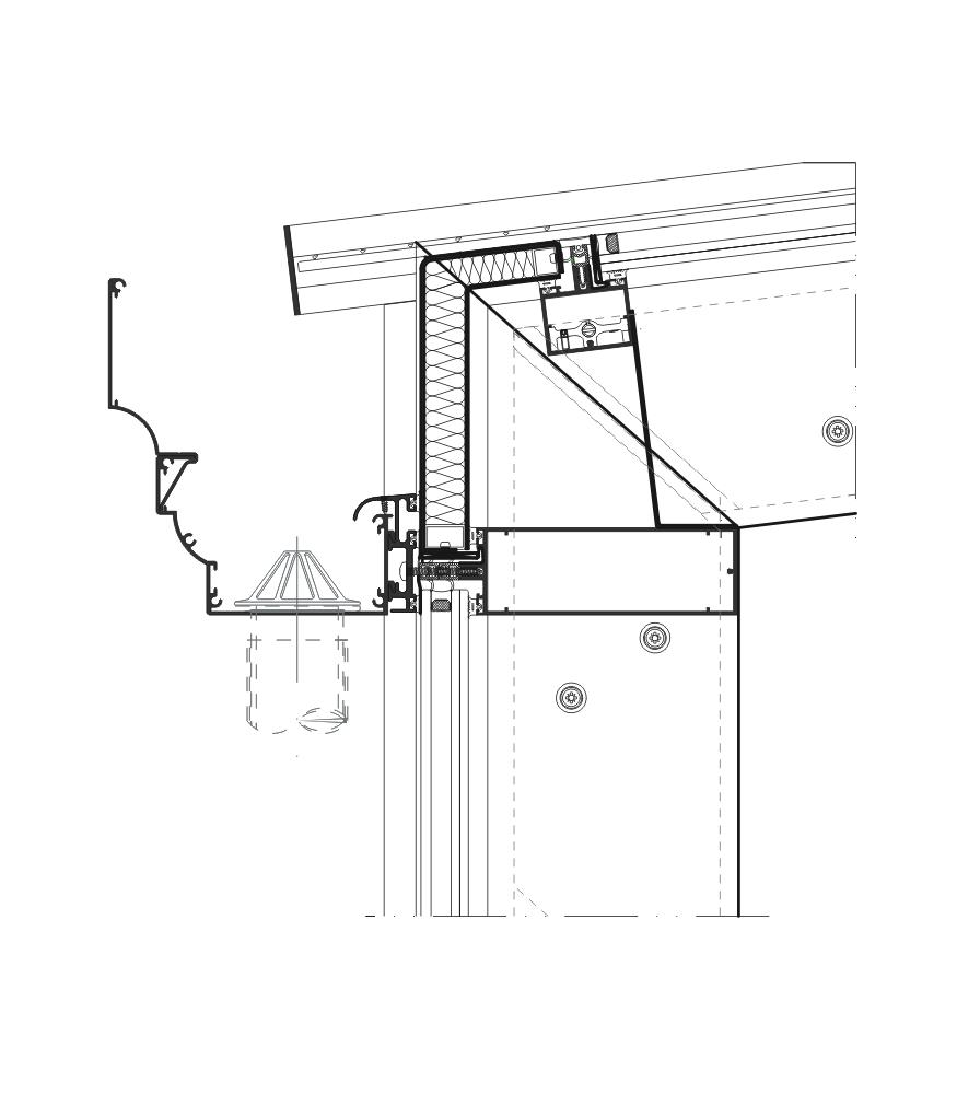 Detalle de la sección del sistema Lucernarios y Verandas