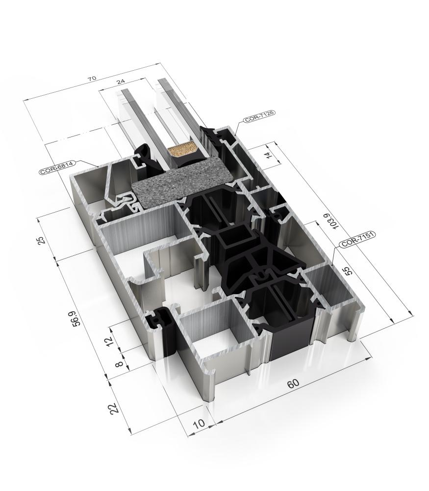Detalle de la sección del sistema Cor 60 CC16 RPT