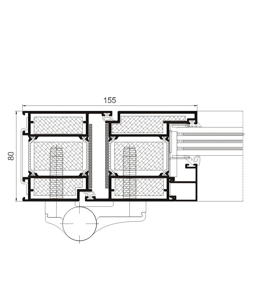 Detalle de la sección del sistema Puerta Millennium  FR  RPT
