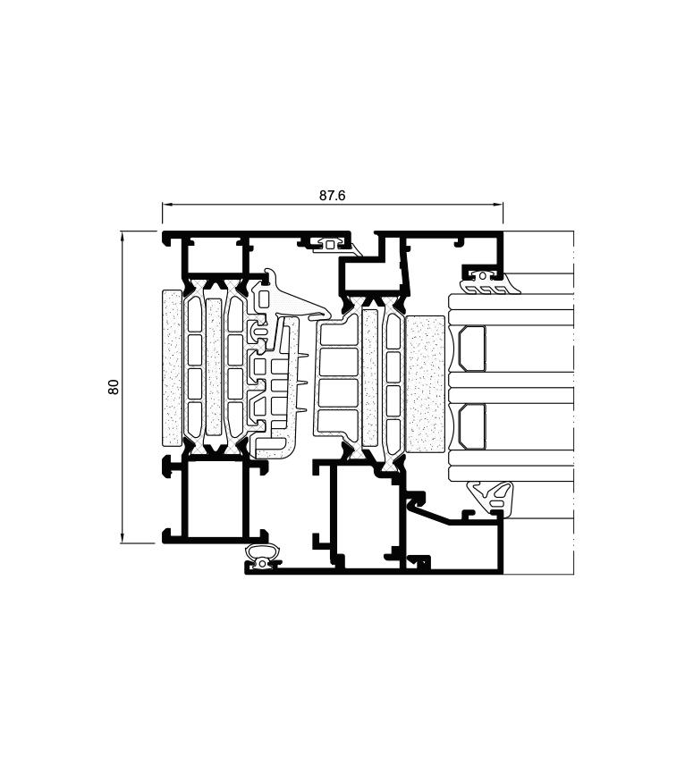 Detalle de la sección del sistema Cor 80 Industrial RPT