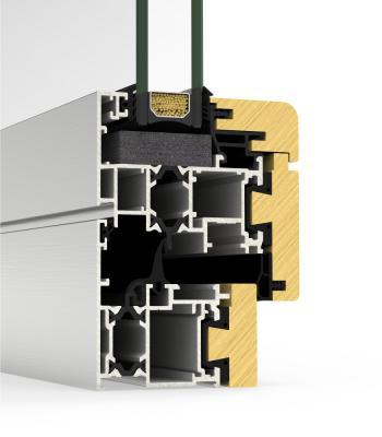 Detaliu sistem Sistem Cor-Galicia Premium aluminiu-lemn cu BT