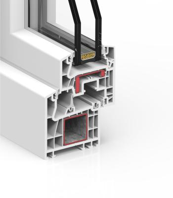 Detalle del sistema A 70 Triple junta - PVC