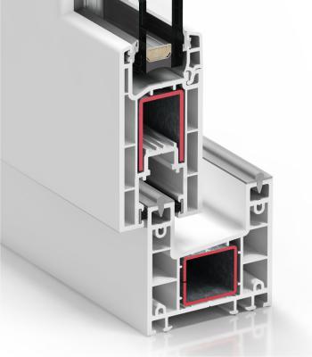 Pormenor do sistema C 70  de Correr - PVC
