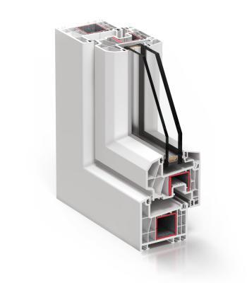 Detalle del sistema A 70 Abisagrada - PVC