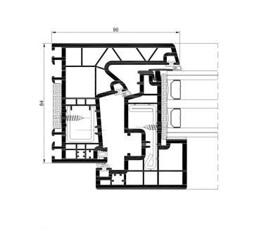 A 84 Hidden sash Passivhaus